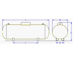 Tanques estacionarios verticales y horizontales nova gas for Estanques de gas licuado